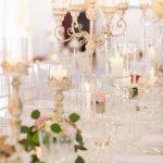 tenuta la valle - location per matrimoni in toscana - dettaglio allestimento tavoli con fiori e candele